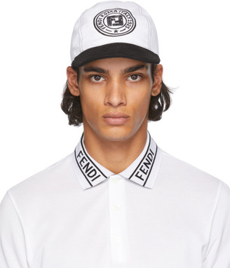 Fendi Reversible Black and White Joshua Vides Edition Baseball Cap
