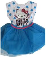 Hello Kitty Little Girls Blue Star Print Sequin Applique Dress