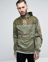 Columbia Challenger Overhead Jacket Lightweight In 2 Tone Green