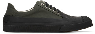 Dries Van Noten Khaki Canvas Low-Top Sneakers
