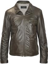 Forzieri Men's Dark Brown Genuine Leather Motorcycle Jacket