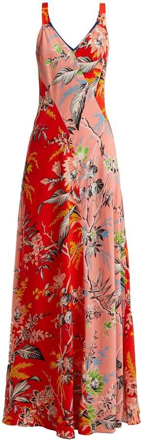 Diane von Furstenberg Avalon poppy-print silk maxi dress