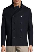 Black Brown 1826 Wool-Blend Peacoat