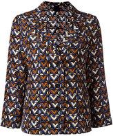 Aspesi geometric print pyjama shirt - women - Silk - 42
