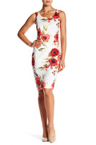 Jessica Simpson Floral Sleeveless Sheath Dress