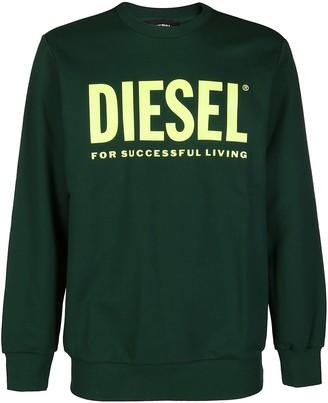 Diesel Green Cotton Sweatshirt