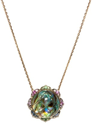 Noor Fares Madhya Sapphire, Abalone & Gold Necklace - Blue