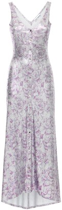 Paco Rabanne Floral Print Viscose Blend Long Dress