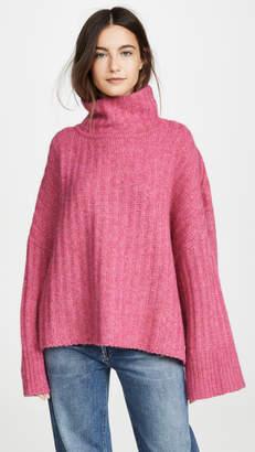 Eleven Paris Six Talia Poncho Alpaca Sweater