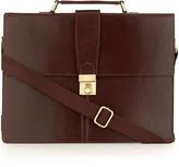 Topman Burgundy Leather Briefcase