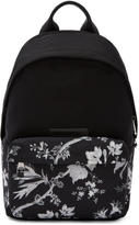 McQ Black Floral Classic Backpack