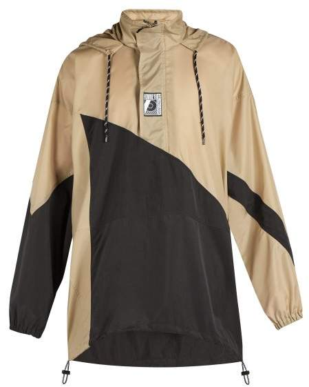 Balenciaga Double Hem Windbreaker Jacket - Mens - Beige