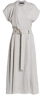 Proenza Schouler Suiting Short Sleeve Midi Dress