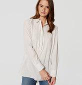 LOFT Petite Ladder Lace Tunic Shirt