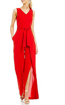 Antonio Melani Fitz Light Weight Crepe Split Leg Belted Jumpsuit