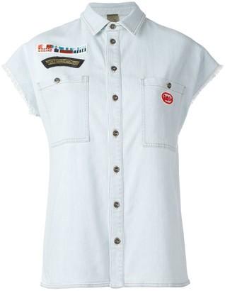 Mr & Mrs Italy Patches Denim Shirt