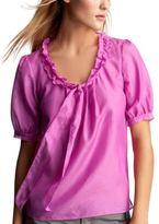 Ruffle bow blouse