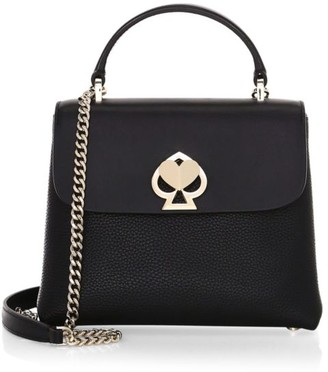 Kate Spade Mini Romy Twistlock Leather Satchel
