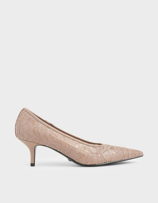 Charles & Keith Lace Pointed Pumps