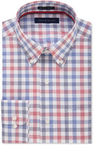 Tommy Hilfiger Men's Classic-Fit Non-Iron Navy Multi-Check Dress Shirt