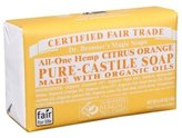 Dr. Bronner's Dr. Bronners Bar Citrus Orange 5oz Soap (2 Pack)