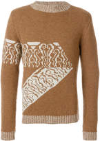 A.P.C. embroidered knitted sweater