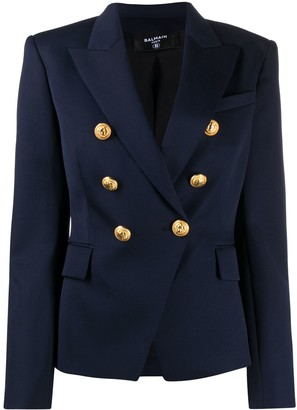 Balmain Double-Breasted Blazer Jacket
