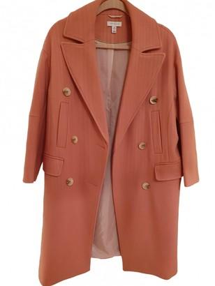 Topshop Tophop Pink Wool Coat for Women