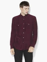 John Varvatos Silk Military Shirt