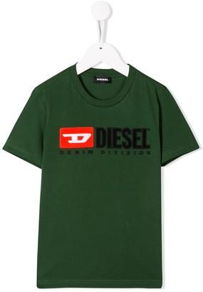 Diesel contrast logo T-shirt
