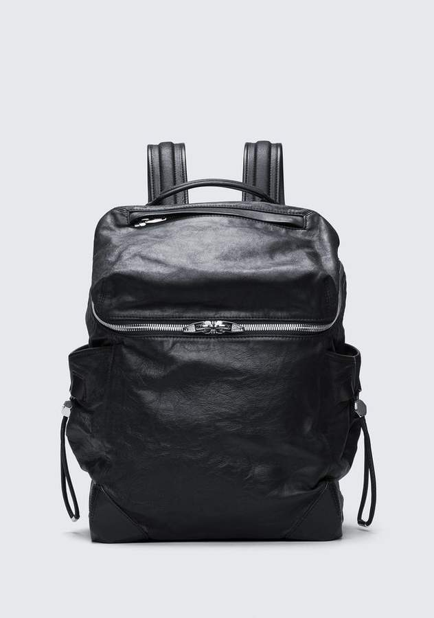 Alexander Wang SMALL WALLIE BACKPACK IN WAXY BLACK WITH RHODIUM