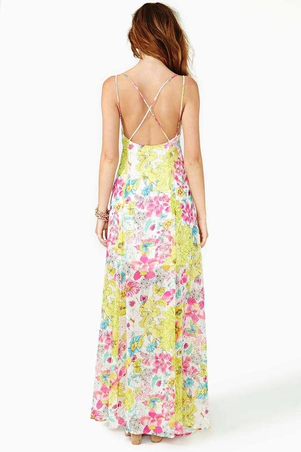 Nasty Gal Glowing Spring Maxi Dress