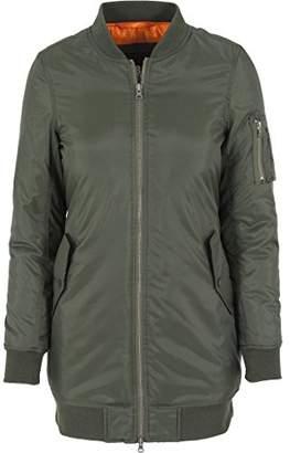 Urban Classic Women's Jacke Long Bomber Jacket,(Size: )