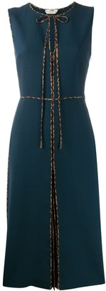 Fendi contrasting FF motif piped dress