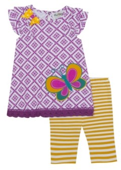 Rare Editions Little Girls Applique Top and Legging Set