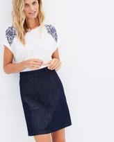 Jag A-Line Denim Skirt