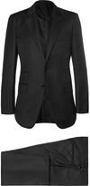 Tom Ford Black Slim-Fit Peak Lapel Wool Suit