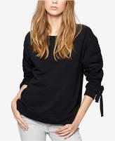 Sanctuary Cotton Ruched-Sleeve Sweatshirt