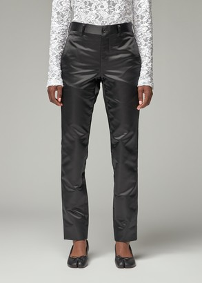 Comme des Garcons Women's Thick Satin Tapered Pant in Black Size XS Polyester/Cupro Lining