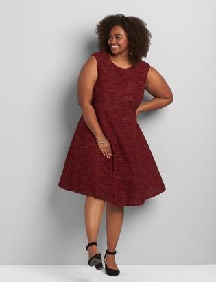 Lane Bryant Sleeveless Metallic Fit & Flare Dress
