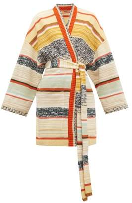 Missoni Striped Wool-blend Cardigan - Womens - Cream Multi