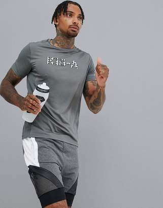Ki5 A KI5-A Plaid performance t-shirt-Grey