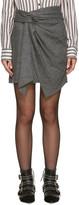 Isabel Marant Grey Herringbone Kim Miniskirt