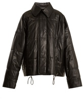 Haider Ackermann Drawstring-hem quilted-leather jacket