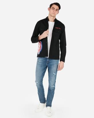 Express Detroit Pistons Nba Twill Shirt Jacket