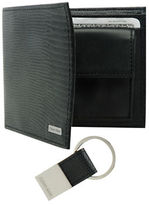 Calvin Klein Lizard Embossed Leather Billfold with Key Fob