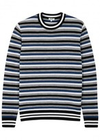 Kenzo Striped Fine-knit Wool Blend Jumper