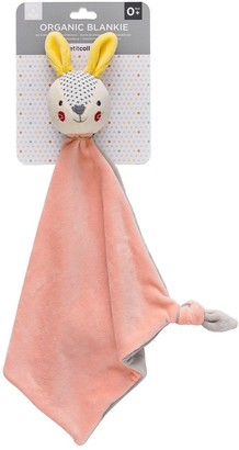 Petit Collage Organic Blankie & Soft Ball Bundle - Bunny