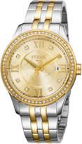 Ferré Milano Women's 36mm Stainless Steel Three-Hand Date Glitz Watch with Bracelet, Golden/Steel