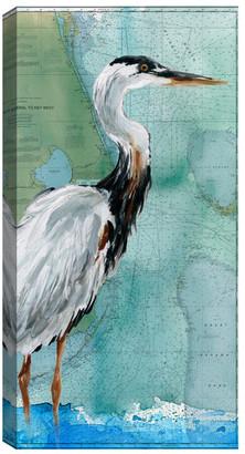 Fine Art Canvas Key West Crane by Carol Robinson Canvas Art Print